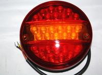 Круглый диодный фонарь с желтой полосой для грузовиков(6985)