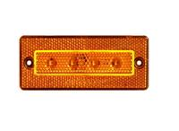 Габаритный 4-х диодный желтый фонарь для грузовиков(6992)