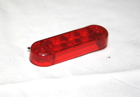 Габаритный диодный фонарь красный (3 диода) 0171 для грузовиков(7002)