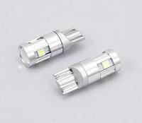 Светодиодная led лампочка 12/24В T10-3030-5 SMD SAMSUNG драйвер Синий(7169)