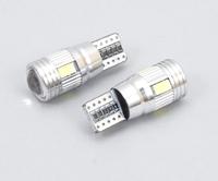 Светодиодная led лампочка 12В T10-5730-6 SMD CANBUS(7186)