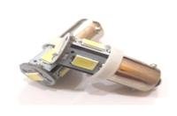 Светодиодная led лампочка 12В T4W-5730-5SMD (7204)
