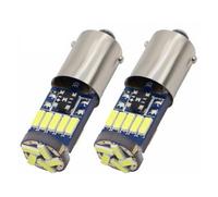 Светодиодная led лампочка 12В  T4W-4014-15 SMD CANBUS Желтый (7209)