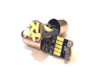 Светодиодная led лампочка 12В T4W-4014-15 SMD CANBUS Желтый (7211)