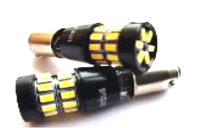 Светодиодная led лампочка 12В T4W-3014-30 SMD CANBUS (7215)
