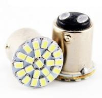 Светодиодная led лампочка 12В 1157-3014-22 SMD Двухконтактная (7221)
