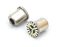 Светодиодная led лампочка 12В 1156-4014-19 SMD Одноконтактная (смещенный контакт) Желтый(7251)
