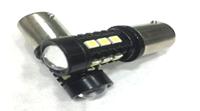 Светодиодная led лампочка 12В 1156-3030-15 SMD Одноконтактная SAMSUNG (7301)