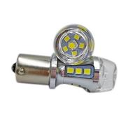 Светодиодная led лампочка 12/24В 1156-3030-18 SMD Одноконтактная (смещенный контакт) Желтый (7333)