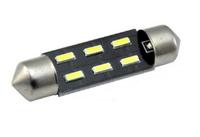 Светодиодная led лампочка 12В FS-4014-6 SMD 41 мм(7373)