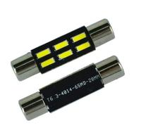 Светодиодная led лампочка 12В FS-4014-6 SMD 28 мм (7382)