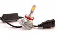 Светодиодные автолампы F8 H11(H8/H9/H16) 12-24V COB (радиатор) (7527)