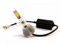 Светодиодные автолампы ламп F8 H7 12-24V COB (радиатор) (7530)