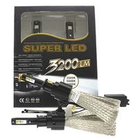 Светодиодные автолампы SuperLed H1 6500K 36W 3200lm с пассивным охлаждением (7546)