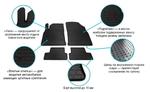 SCANIA P 2004-2011 Комплект из 2-х ковриков Черный в салон (7615)