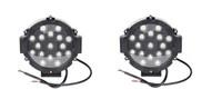 Светодиодные дополнительные фары Allpin 51 Вт,комплект 2 шт. Black (7627С51В)