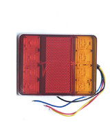 Задний фонарь светодиодный 12в для легкового прицепа (7643)