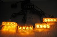 Стробоскоп светодиодный под решетку  жёлтый  Federal Signal 4-2-16 комплект.12-24V(7795)