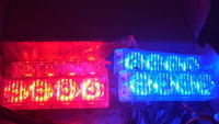 Стробоскопы Federal signal LED 4-2-16 красно-синий 12V (7796)