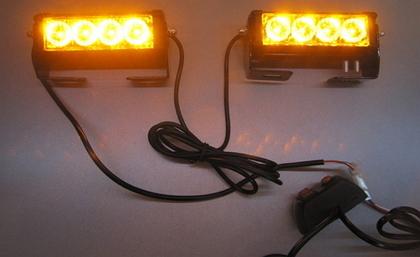 Стробоскопы жёлтые Federal signal S5-4 LED 12В.(7802)
