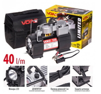 """Компрессор """"VOIN"""" VL-550 150psi/15Amp/40л/прикур./фонарь/дефлятор/переходник на клеммы (7872)"""