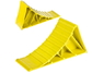 Упор под колесо (220x110x80мм) пластик желт.(7911)