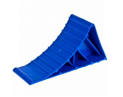 Упор под колесо (220x110x80мм) пластик синий (7912)
