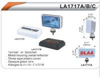 Фары дополнительные DLAA 1717 C-BL хром/H3-12V-55W/206*121mm/крышка (8014)
