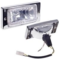 Фары дополнительные модель VARRAN HY-174D-2/CLEAR H3-12V-55W/173*84mm/LADA/2110-15 (хром) LED рамка(8105)