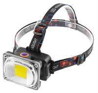 Фонарь на лоб LL-6651-COB (white + red/green/yellow strob) (8248LL6651COB)