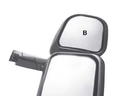 Зеркало дополнительное  SCANIA 124/144(Serie400) с подогревом (Правое)/JM3516SHR/892