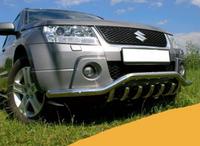 ЗАЩИТА ПЕРЕДНЕГО БАМПЕРА ТРУБА ОДИНАРНАЯ ИЗОГНУТАЯ С ГРИЛЕМ Volkswagen Т5 2003+(9006)  VW