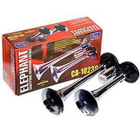 Сигнал воздушный CA- 10238, Еlephant, CIKADA 2-дудки металл 12V/24V (9172)