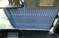 Шторы на лобовое стекло солнцезащитные 145x65см выдвижные (11571)
