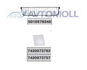 Решетка бампера Рено Премиум NEW/4059