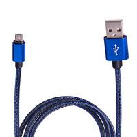 Кабель USB - Micro USB (Blue) ((400) Bl)