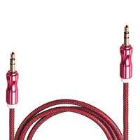Кабель аудио AUX 3,5 мм 1м (Red) (AUX  Rd)