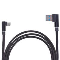 Кабель USB - Micro USB (Black) 90° ((400) Bk)
