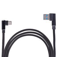 Кабель USB - Type С (Black) 90° ((200) Bk)