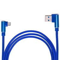 Кабель USB - Type С (Blue) 90° ((200) Bl)