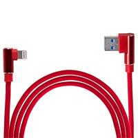 Кабель USB - Apple (Red)  90° ((100) Rd)