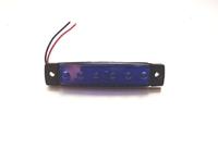 Габаритный фонарь 6-ти диодный синий 0175 для грузовиков(7821)