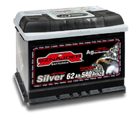 Автомобильный аккумулятор SZNAJDER Silver (62A/ч)/3444 SZNAJDER
