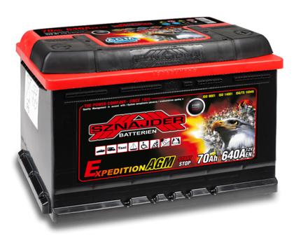 Автомобильный аккумулятор SZNAJDER AGM Expedition система Start Stop(70A/ч)/3435