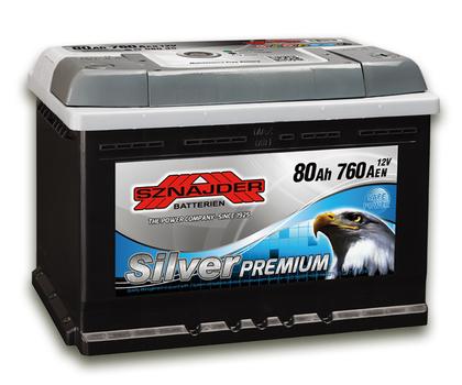 Автомобильный аккумулятор SZNAJDER Silver Premium (80A/ч)/3453