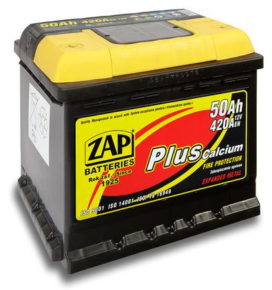 Автомобильный аккумулятор ZAP Plus (50A/ч)/3552