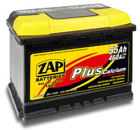 Автомобильный аккумулятор ZAP Plus (55A/ч)/3553 ZAP