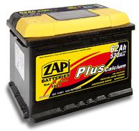 Автомобильный аккумулятор ZAP Plus (62A/ч)/3555 ZAP