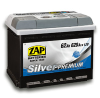 Автомобильный аккумулятор ZAP Silver Premium (62A/ч)/3577 ZAP