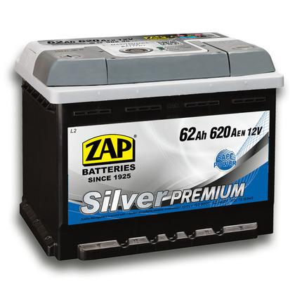 Автомобильный аккумулятор ZAP Silver Premium (62A/ч)/3577